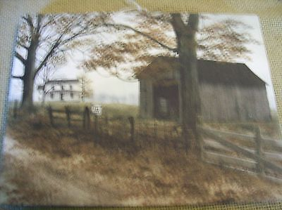 New Country Road Old Barn Farm Rustic Prim House Home Decor Stretched Canvas