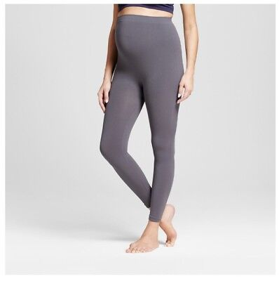 ISABEL MATERNITY By Ingrid & Isabel Size S/M Gray - SEAMLESS BELLY LEGGINGS #m6a