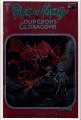 RICK AND MORTY VS DUNGEONS & DRAGONS 1 Cormack Chromium Red Foil VARIANT NM /700
