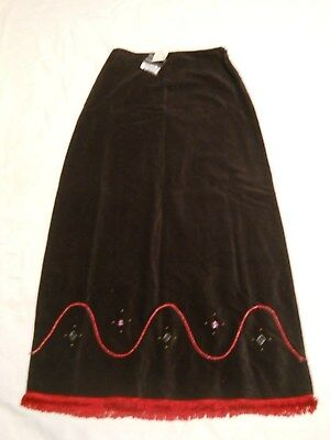 c585e51f5 Urban Outfitters Maxi Pencil Skirt Size 5 Black Long Beads Fringe Soft  Cotton