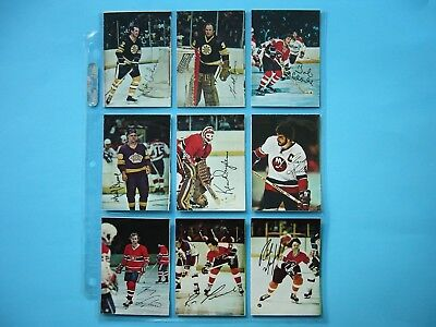 Set 22 1977/78 O-Pee-Chee Nhl Glossy Square Photo Insert Cards Guy Lafleur Opc