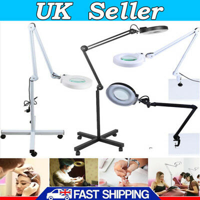 5X Magnifying Lamp Daylight Magnifier Lens Desk Table Task Craft Work Bench UK