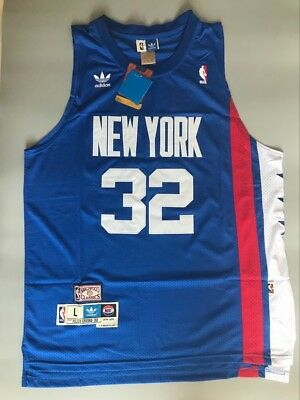 3a5c9e1d396 NWT ABA New York Nets Julius Erving Throwback Swingman Jersey Blue Size  S-XXL