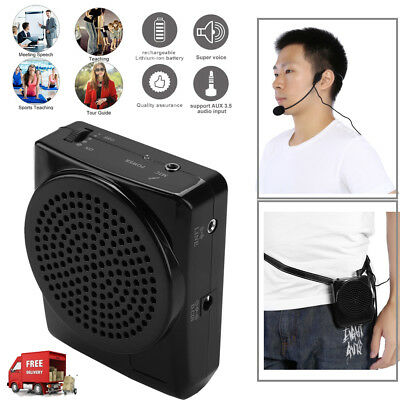 Portable Sound Voice Amplifier for Teaching Guiding Speaker & Headset Microphone