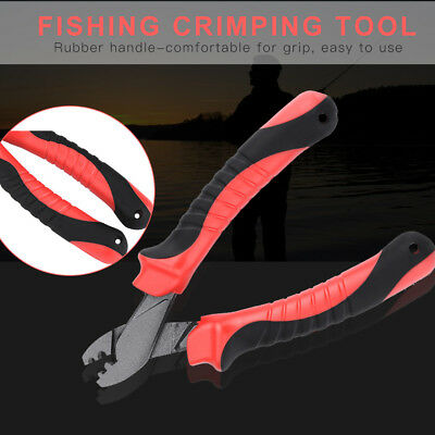Multi-functional Fishing Crimping Pliers Tool Rubber Handle Tackle Accessory
