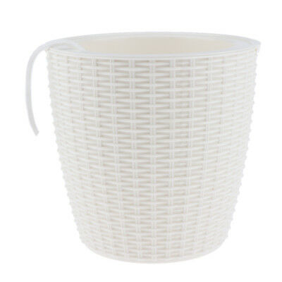 Self-watering Plant Flower Pot Planter Home Decor Indoor Outdoor White L