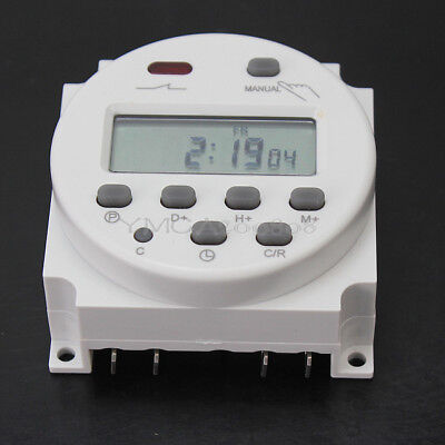 DC 12V Digital LCD Display Power Programmable Timer Time Switch Relay 16A
