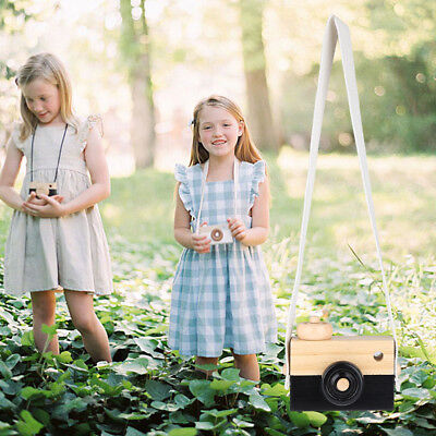 Wooden Camera Child Kids Learning Toy Cute Baby Gift Children Wood Neck Decor
