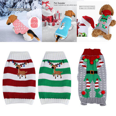 1Pc Pet Dog Warm Knitwear Sweater Cat Puppy Coat Clothes Winter Christmas Jumper