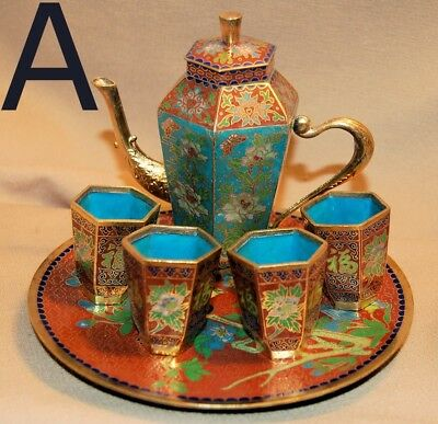 Cloisonne Tea Set 3 Different Styles