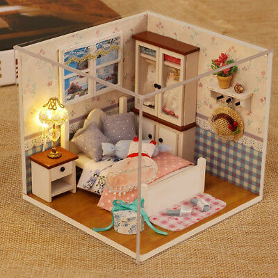 1:24 Dollhouse Miniature DIY Prince Doll House Kits Handcraft Xmas Gifts