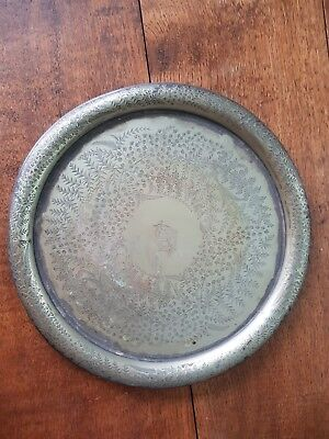 Antique Hallmarked  Silver Plated Tray