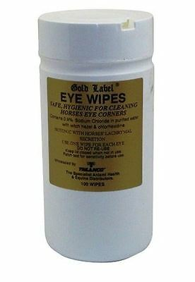 Gold Label Eye & Nose Wipes For Horses Ponies & Animals 25 Or 100 Pack