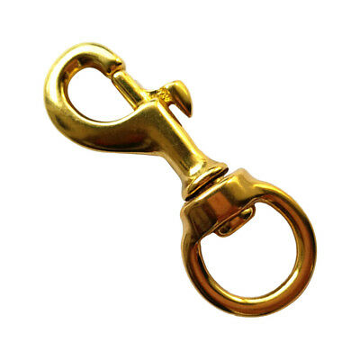 Durable Solid Brass Trigger Swivel Snap Hook Ring Clip Key Holder Key Chain