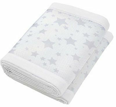 Breathable Baby Two Sided Mesh Liner Twinkle Star - Grey