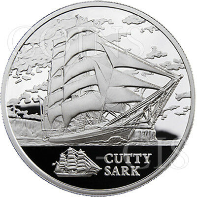 Belarus 2011 20 rubles The Cutty Sark Sailing Ships BU Silver Coin