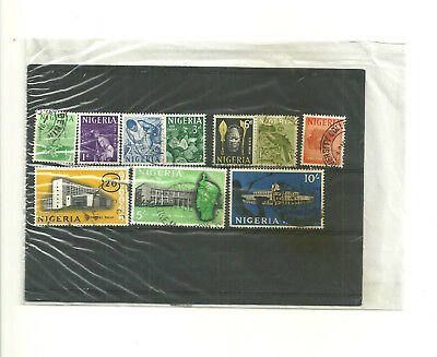 Nigeria  part set 10 used stamps dated before 1970
