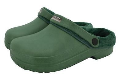 Town & Country Fleecy Cloggies Green UK Size 5