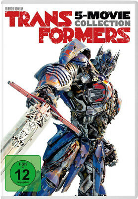 5 DVDs * TRANSFORMERS 1+2+3+4+5 - 5-MOVIE COLLECTION # NEU OVP +