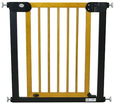 Pressure Fit Extendable Stair Baby Safety Gate Wood Metal AUTO-CLOSE STOP OPEN
