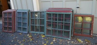 Lot of 30 Antique Windows from 18th C Connecticut House Various Configurations