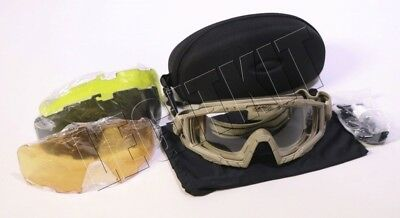 5d81f10512 NEW Oakley SI Ballistic Goggles 2.0 Tan 4-Lens KIT Clear Grey Persimmon  Laser