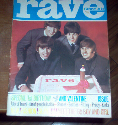Rave Magazine 1965 The Beatles Rolling Stones Yardbirds Kinks Pretty Things UK