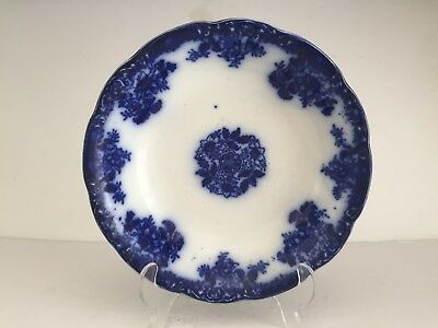 Antique WALDORF Pattern Flow Blue Semi Porcelain China New Wharf Pottery BOWL