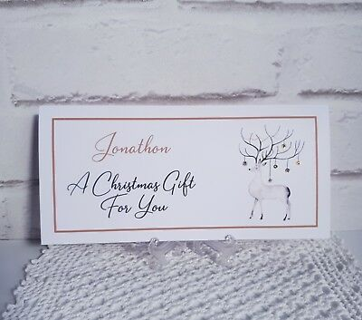 2018 CHRISTMAS MONEY, GIFT CARD, VOUCHER WALLET You can Personalise with a name