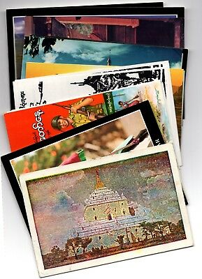 BURMA / MYANMAR  20 Postcards As Shown  2 Posted  Rest Unposted