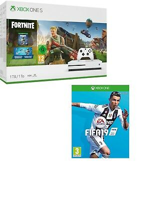 Xbox One S 1TB Console & Fortnite  and FIFA 19 Game in stock NOW