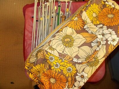 Knitting Bag & Odd Needles In Good Condition