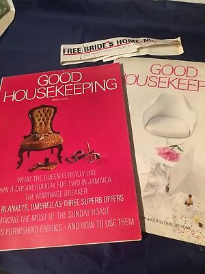Mar1966 Good Housekeeping Magazine Fab Full Page Adverts Brides Home Supplement