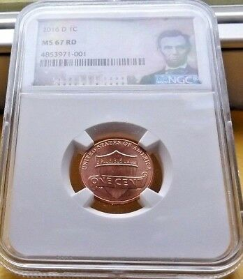 2016-D Ngc Ms 67 Red Lincoln Shield Cent Penny .1C