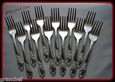 Salad / Cake Forks ~12 pack ~ SS ~ Regency Pattern ~ New In Box!  Made In Japan!