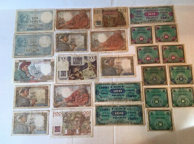 France Paper Currency - Lot of 25 Notes