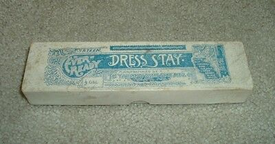 Rare 1889 The Ever-Ready Dress Stay Box - Ypsilanti Dress Stay Manufacturing Co