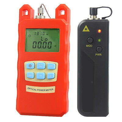 Optical Fiber Power Meter Tool + 20mW Visual Fault Locator Tester Pen Set