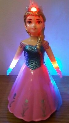 Bump & Go Action Pink Turquoise Princess Doll Lights + Music Toddler Girls Toys