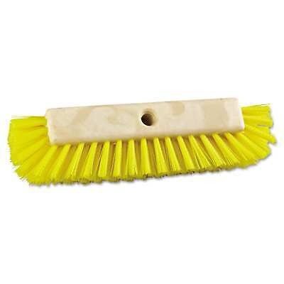 Boardwalk Dual-Surface Scrub Brush Plastic Fill 10-inch Long Yellow