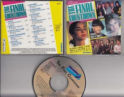 THE FINAL COUNTDOWN 1988 BENBITS PROMO CD Bangles Meat Loaf Cock Robin Toto Nits