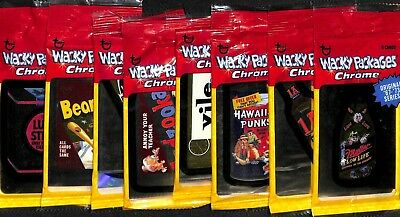 Topps Wacky Packages - Chrom Serie 1 - Pack (4 Karten) - Neu 8 Packs