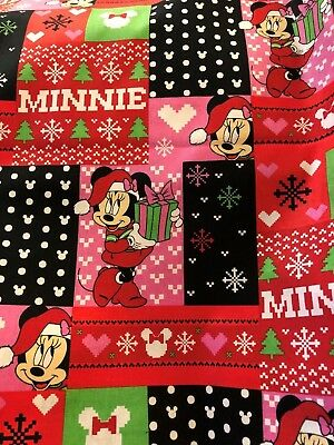 Bouffant STYLE SURGICAL Scrub Hat, MINNIE MOUSE UGLY CHRISTMAS SWEATER