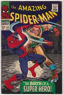 The Amazing Spider-Man #42 First Mary Jane Watson Cameo Appearance Nov 1966 Vg