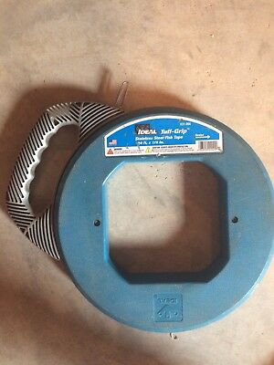 IDEAL Stainless Steel Fish Tape 31-067 Tuff-Grip Blue 240 ft. x 1/8 in. USA