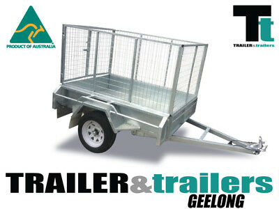"6x4 GALVANISED TRAILER | 3FT CAGE | 12"" SIDES 