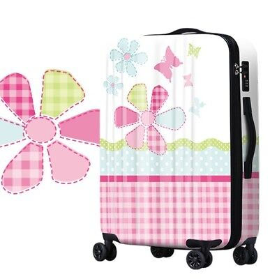 E771 Lock Universal Wheel Plant Pattern Travel Suitcase Luggage 24 Inches W