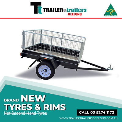 "6x4 CAGED TRAILER LIGHT DUTY | SMOOTH FLOOR & 9"" SIDES 