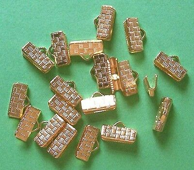 40 GP large (13mm) patterned clasps/clamps for ribbon, findings for jewellery