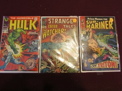 Marvel Silver Age Comic Lot of 3